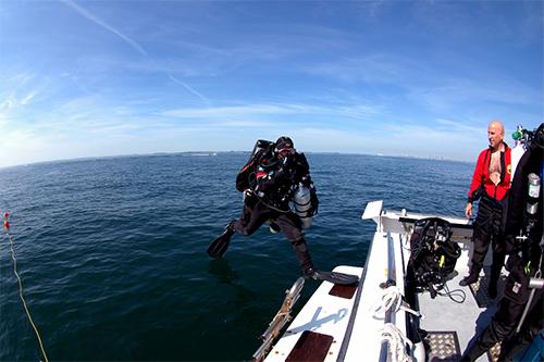 training diver