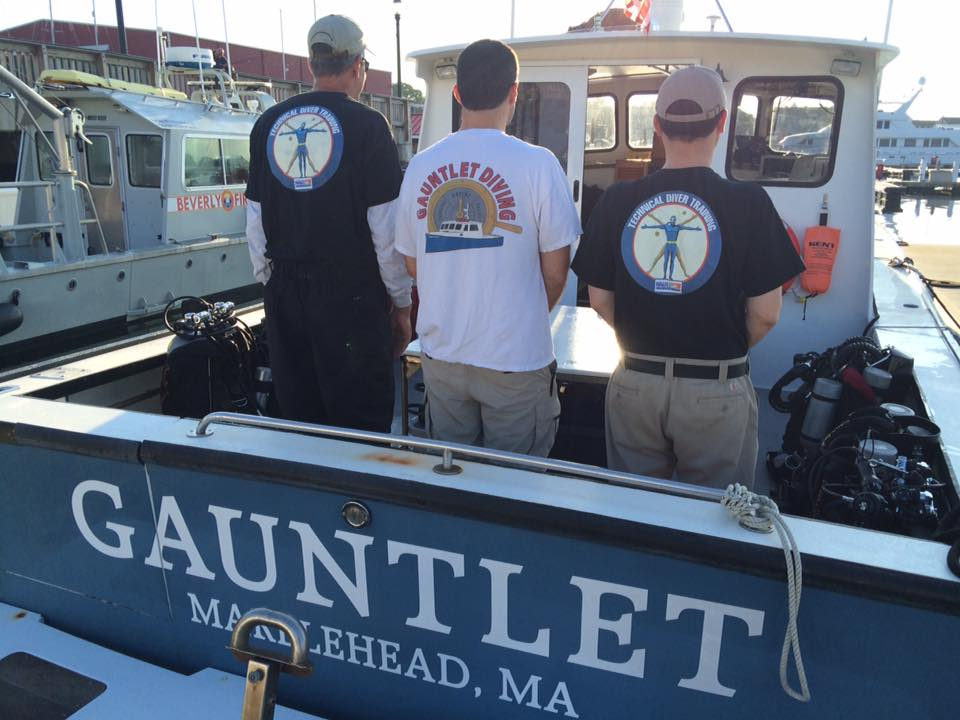 The boys modeling Gauntlet and NAUI Tech tee shirts.