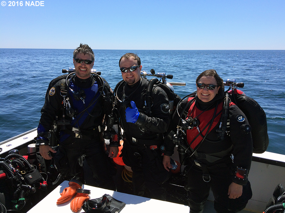Heather, Brad and Josh after a great dive on the Terra Nova.